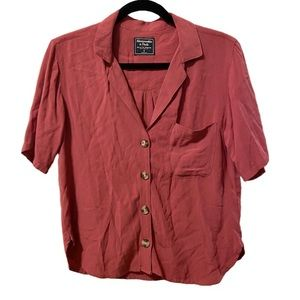 Abercrombie Cropped Button Down Top